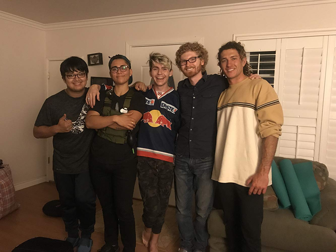 Left to Right - Eric Nguyen (Camera Op), Avery Ramirez (Director of Photography, Producer), Brady Lindsey (Actor, Associate Producer), Landon Coats (Writer, Director, Producer), and Paul Keating (Actor, Model)