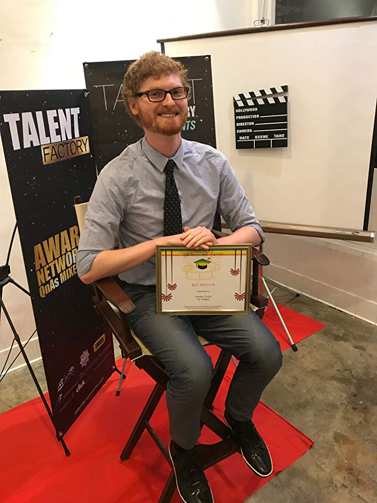 Landon Coats with his award for Best Director at the Talent Factory Awards.