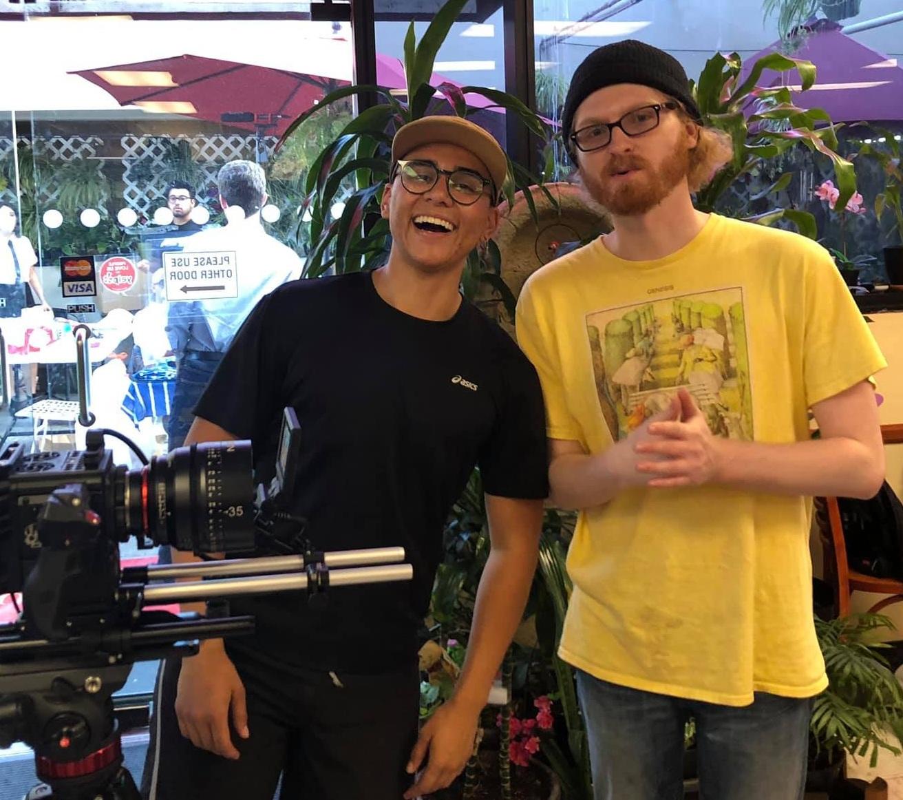 Director Landon Coats and Avery Ramirez Director of Photography