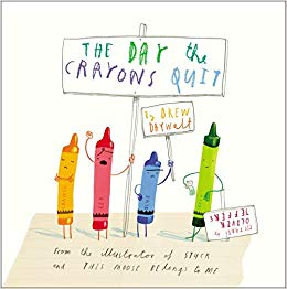 The Day the Crayons Quit, Oliver Jeffers & Drew Daywelt - This book is a work of art and we had so much fun reading this with our book clubbers. Duncan opens up his box of crayons to find a pile of letters of complaint. The crayons aren't happy: Beige is sick of being second best; Blue is exhausted after being used to colour everything that's water; Orange and Yellow are fighting about who's the real colour of the sun; and Peach has a slightly embarrassing problem. This book really is so much fun for all ages!