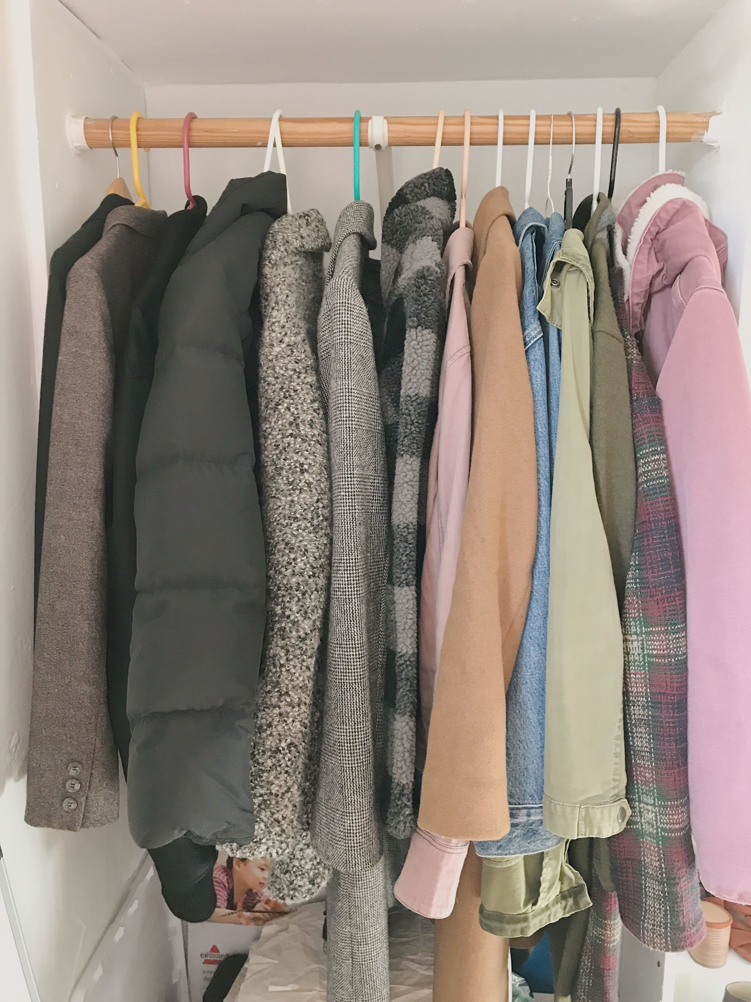 My whole outerwear collection just minus one heavy winter coat!