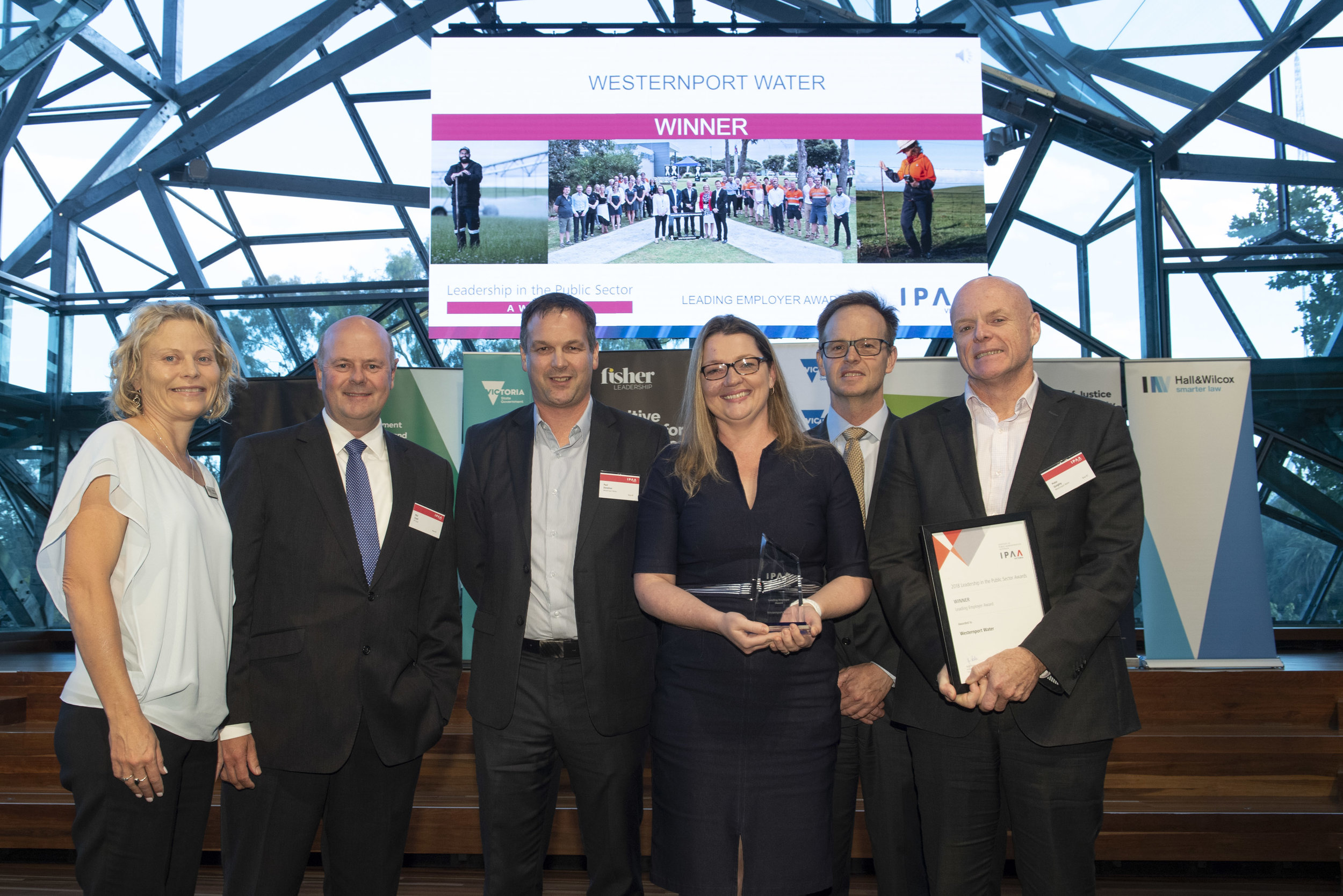 Westernport Water won the Leading Employer award at the 2018 IPAA Victoria Leadership in the Public Sector Awards.