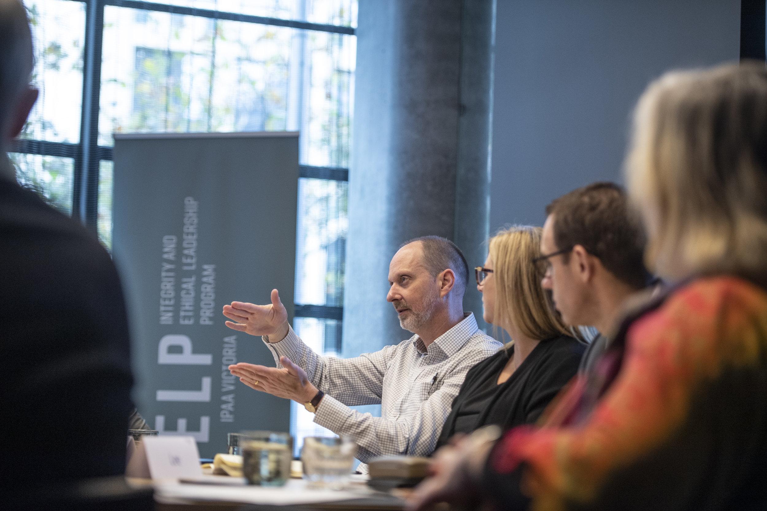 Senior public purpose leaders in IPAA Victoria's Senior Executive Integrity and Ethical Leadership program (IELP)
