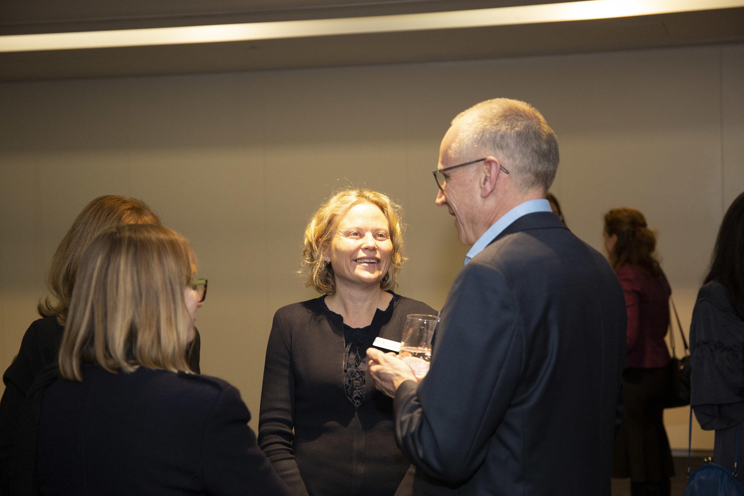 IPAA Victoria's president, Kym Peake, interacts with alumni