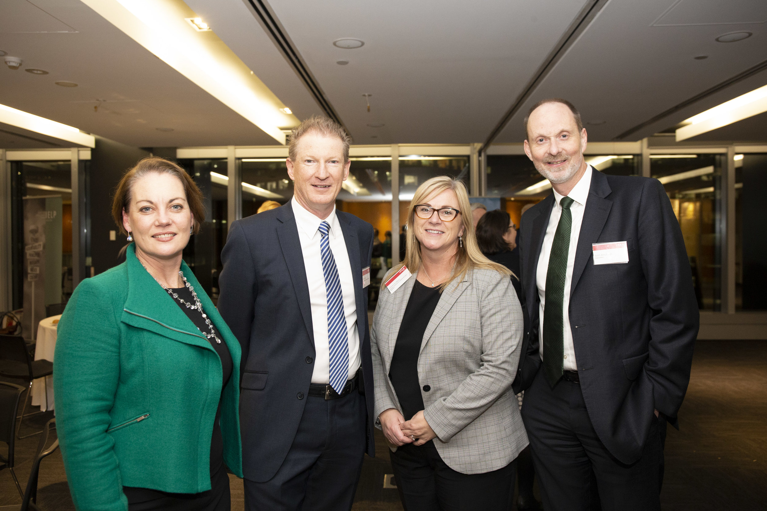Left to right: IELP strategic advisor Jane Brockington with IELP alumni Greg Leach (MFB), Catherine Myers (VCGLR) and Scott Arbuthnot (Victoria Police)