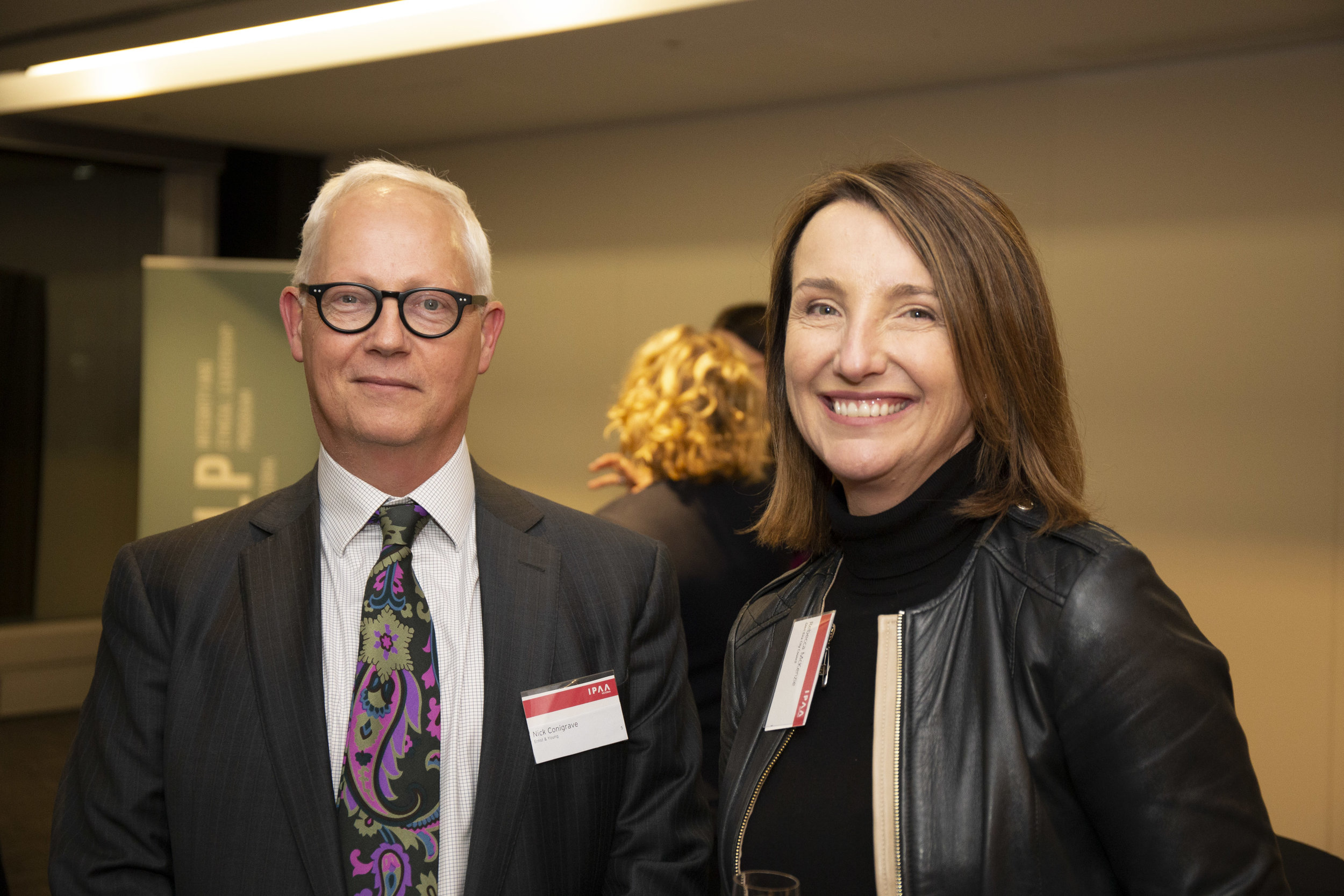 Left to right: Nick Conigrave (EY) and IELP alumna Rebecca McKenzie (Glen Eira City Council)