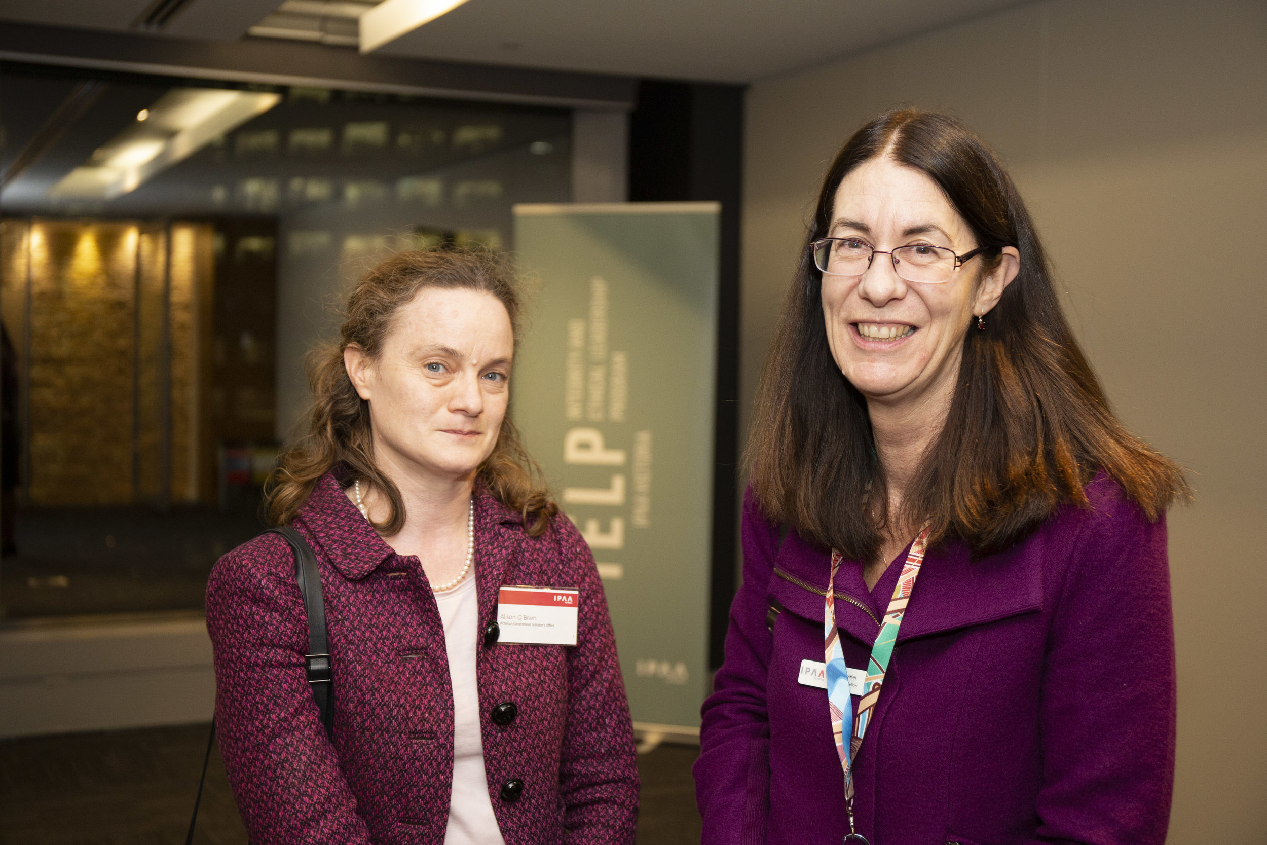 Left to right: IELP alumnae Alison O'Brien PSM (VGSO) and IELP steering committee member Julia Griffith (VPSC)