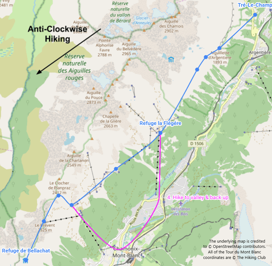 TMB Alternative Option 4:  Hike to valley and back
