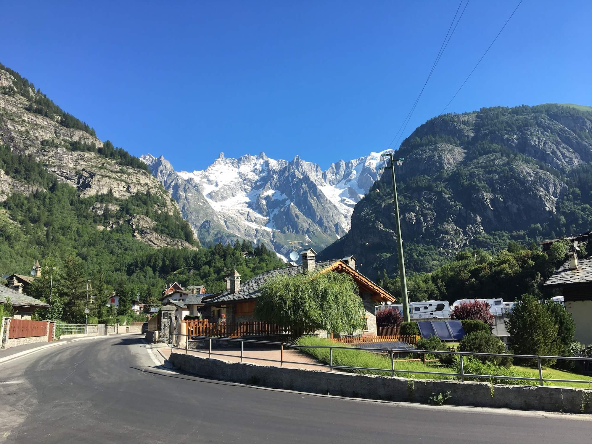 Courmayeur:  Population of 2,800, this is the Italian gateway town to the Alps. It is a great stop-over location along the TMB which a variety of accommodation options ranging from simple B&Bs to more premium hotels.