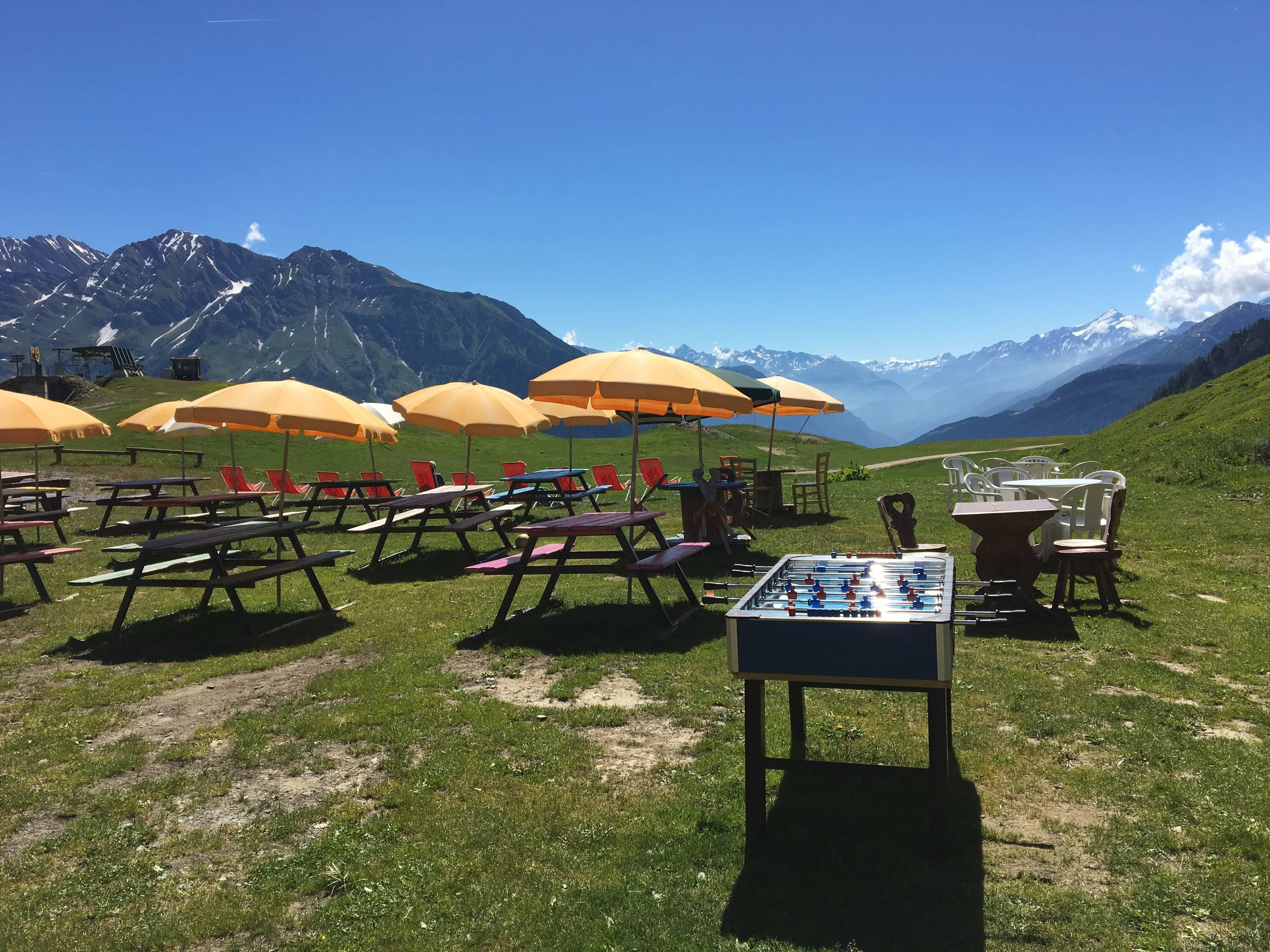 Refugio Maison Vieille:  Alpine Foosball anyone?