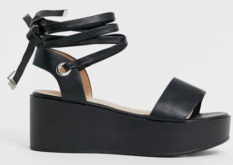 RAID Denise black flatform sandals
