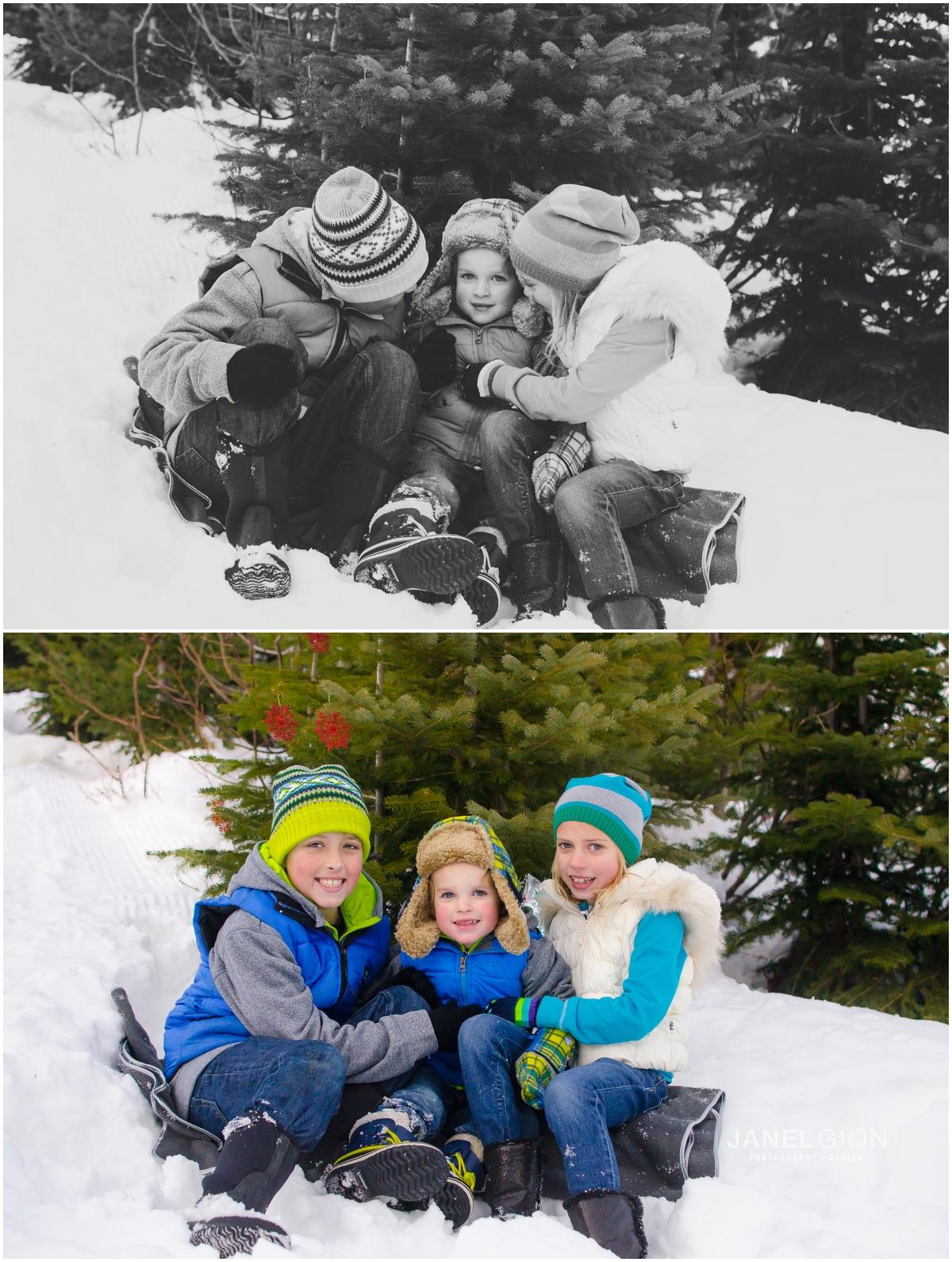 Sandpoint Idaho Child Snow Photography