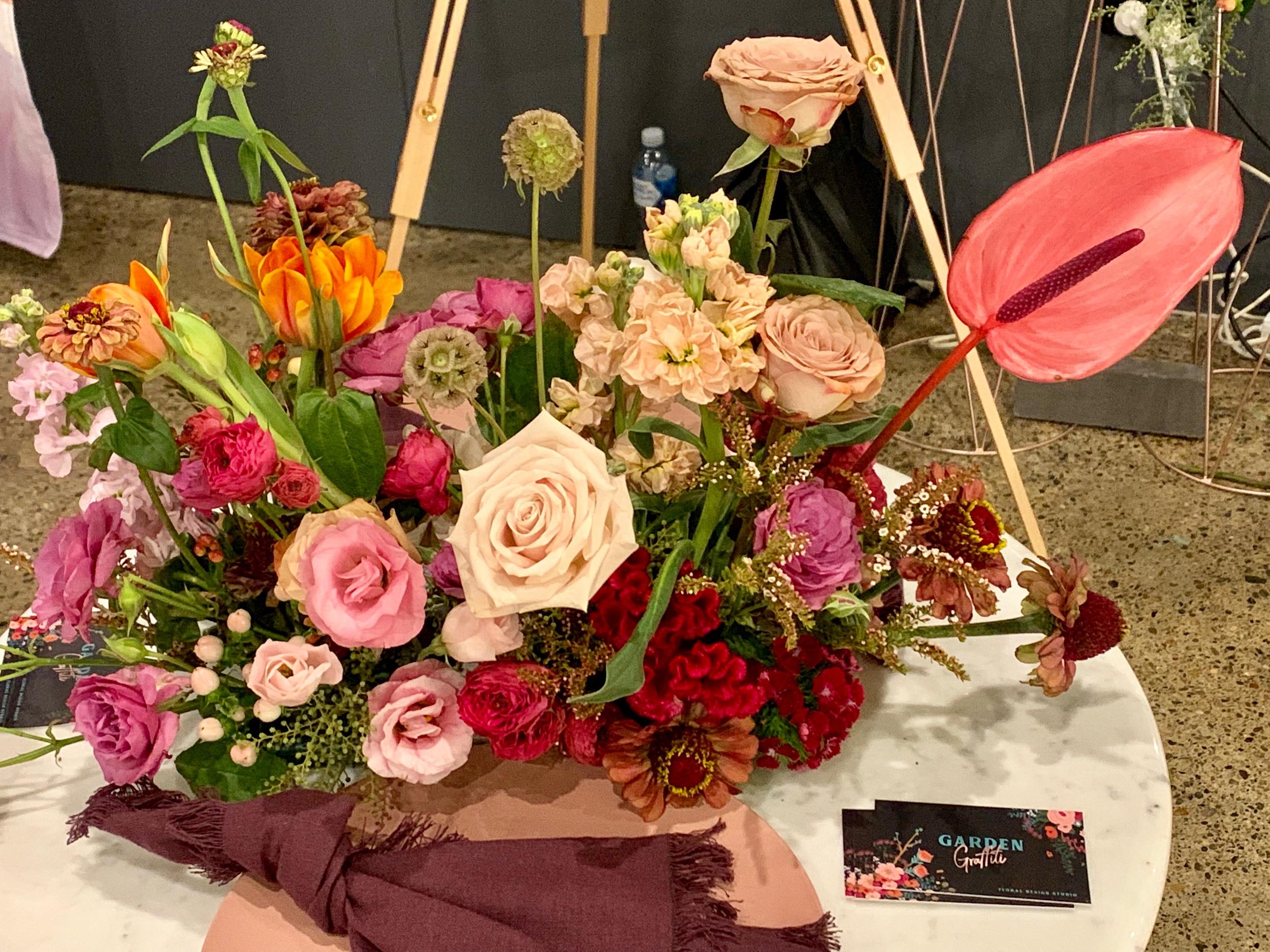 Wedding Harvest Bright Floral Arrangement Garden Graffiti