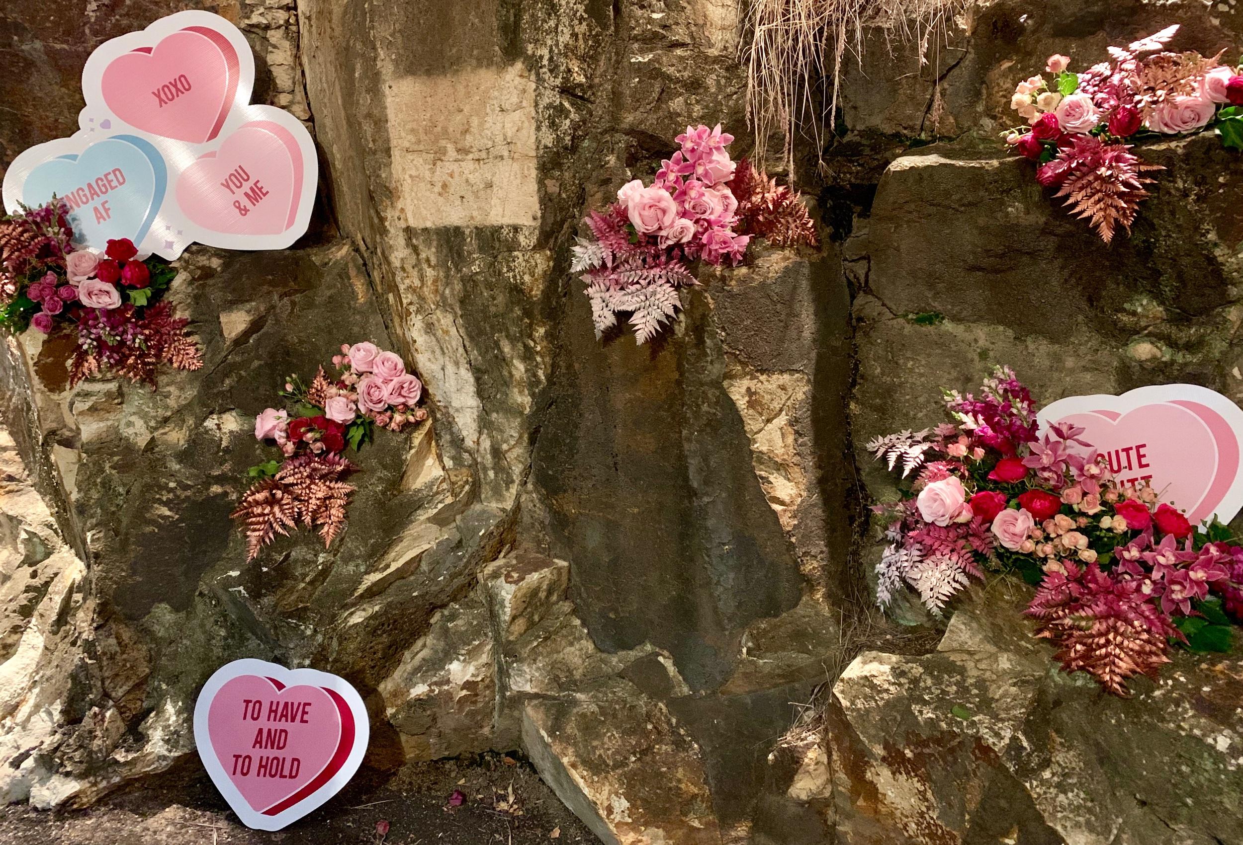 Wedding Harvest Courtyard Decor Pink Florals Cute Signage