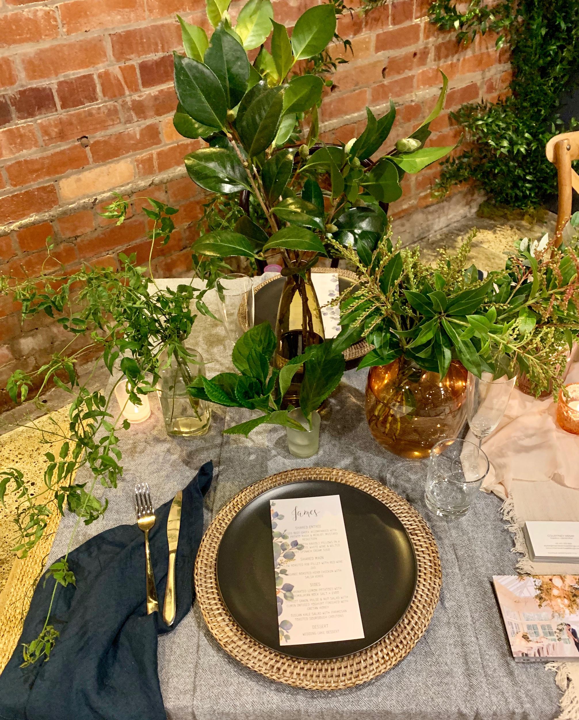 Wedding Harvest Reception Table Setting Main Event Weddings