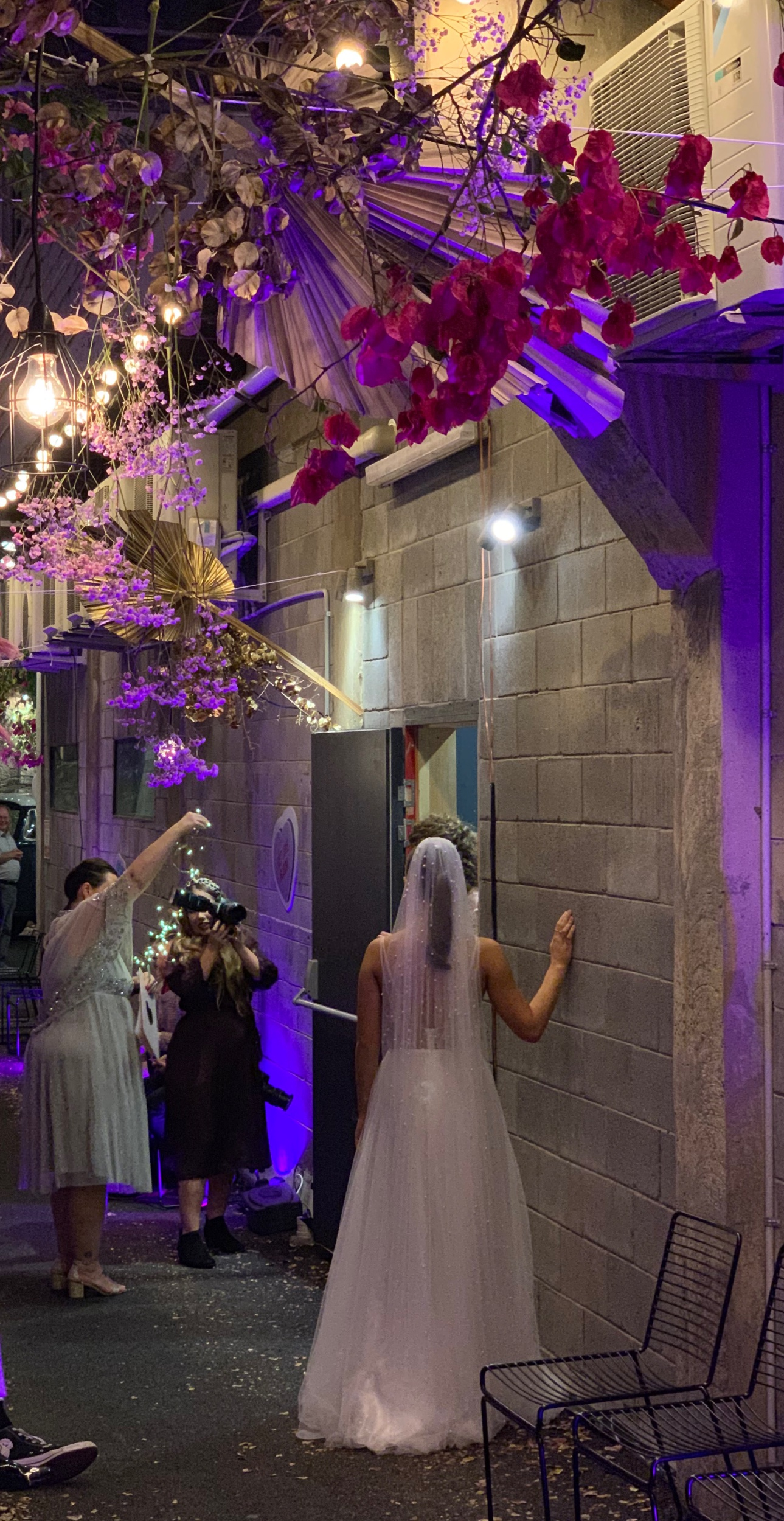 Wedding Harvest Bridal Fashion Show Garden Graffiti Floral Installation