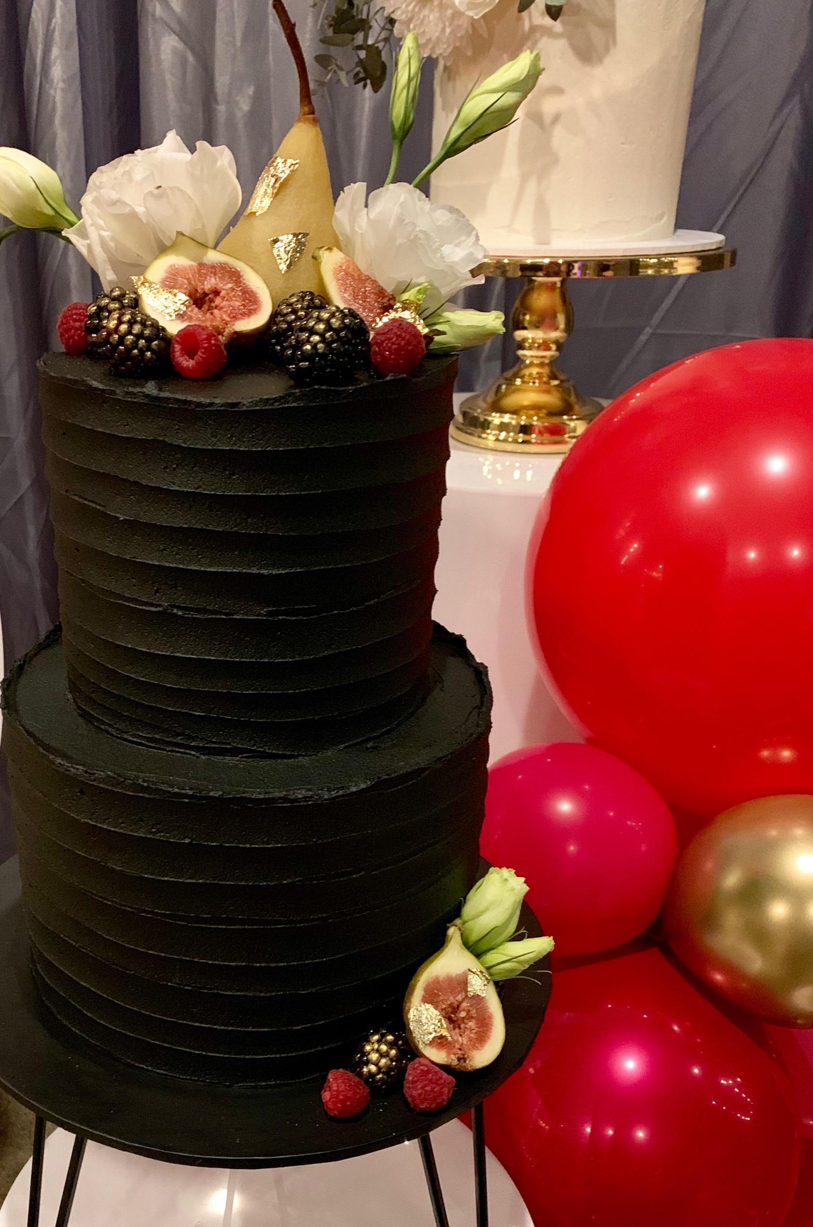 Wedding Harvest Confetti Cake Co Modern Black Wedding Cake