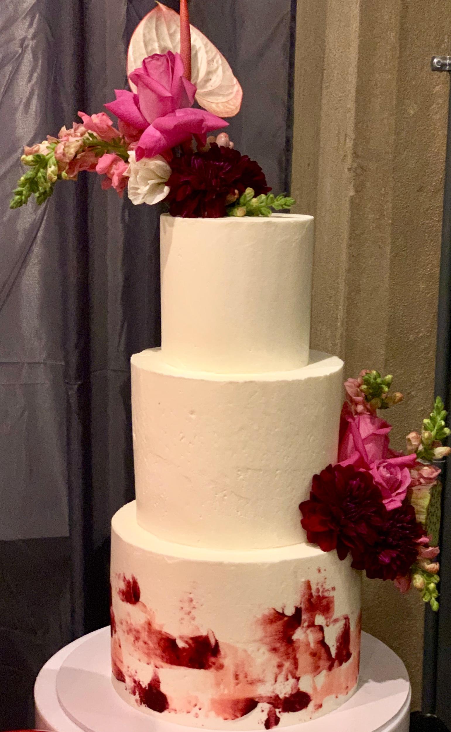Wedding Harvest Confetti Cake Co Pink Modern Wedding Cake