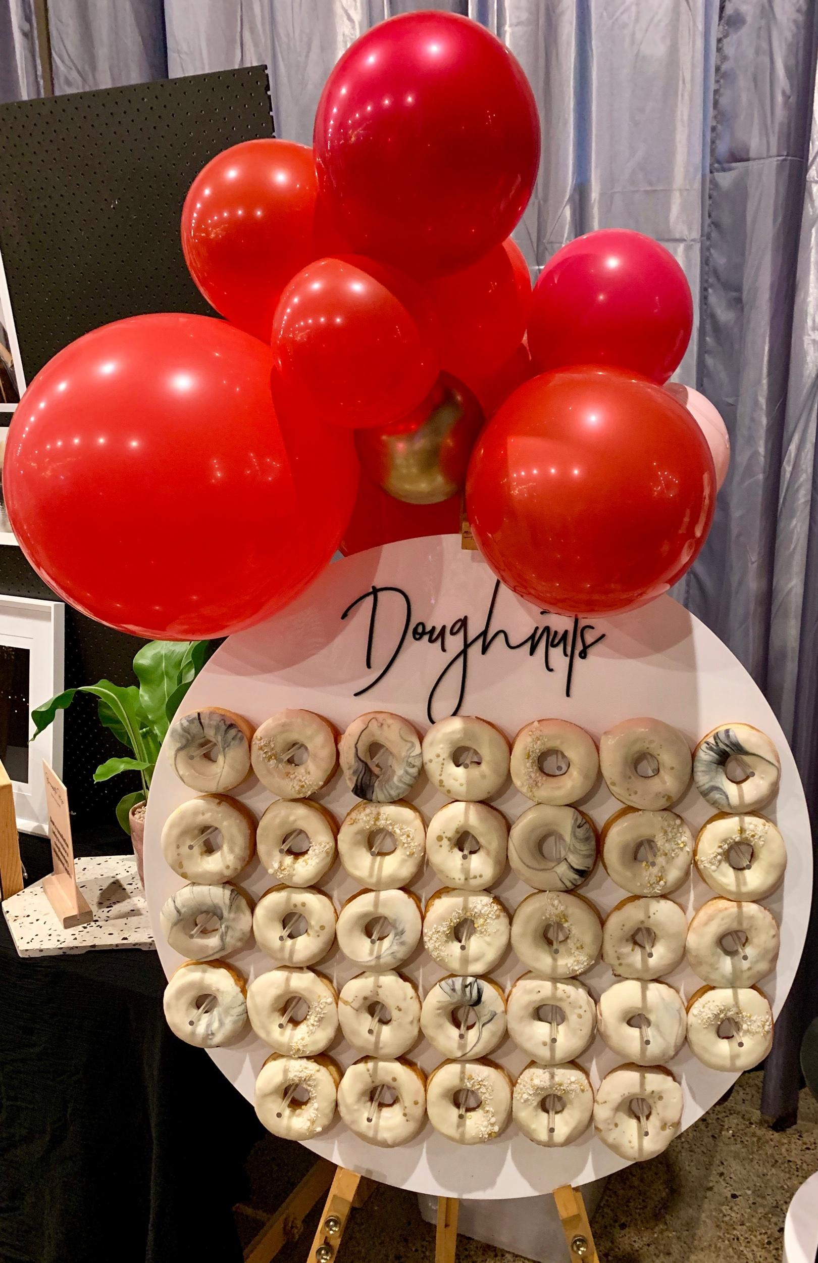 Wedding Harvest Confetti Cake Co Doughnut Wall Balloons
