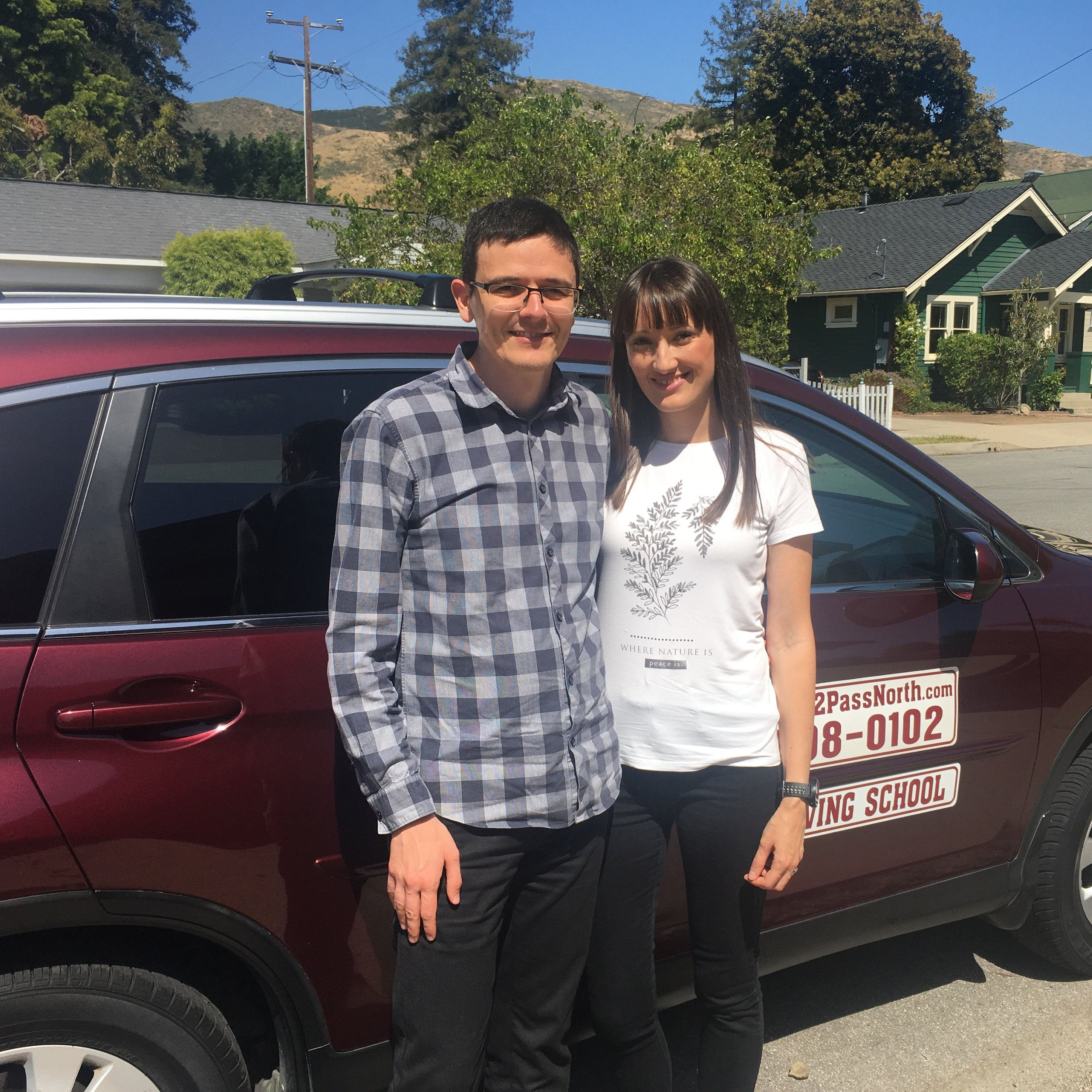 Licensed on the same day! - This lovely couple completed all of their lessons individually and then took/passed their driver's tests on the same day!