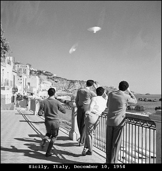 This was a great day! we were touring in sicily when some lovable street toughs stole our saucer and took it for a joy ride. You can't see our faces, but know we were laughing our asses off!