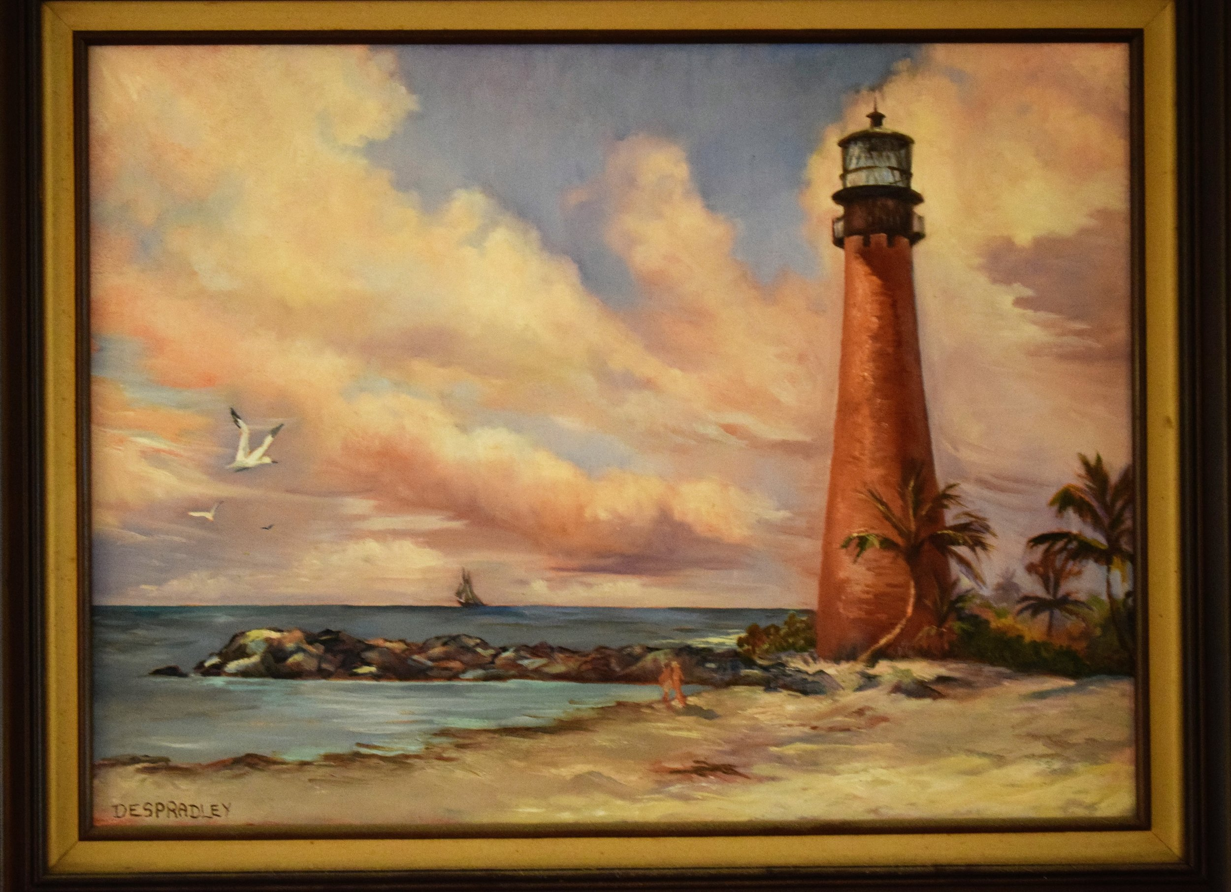 MOMS LIGHTHOUSE PAINTING.JPG