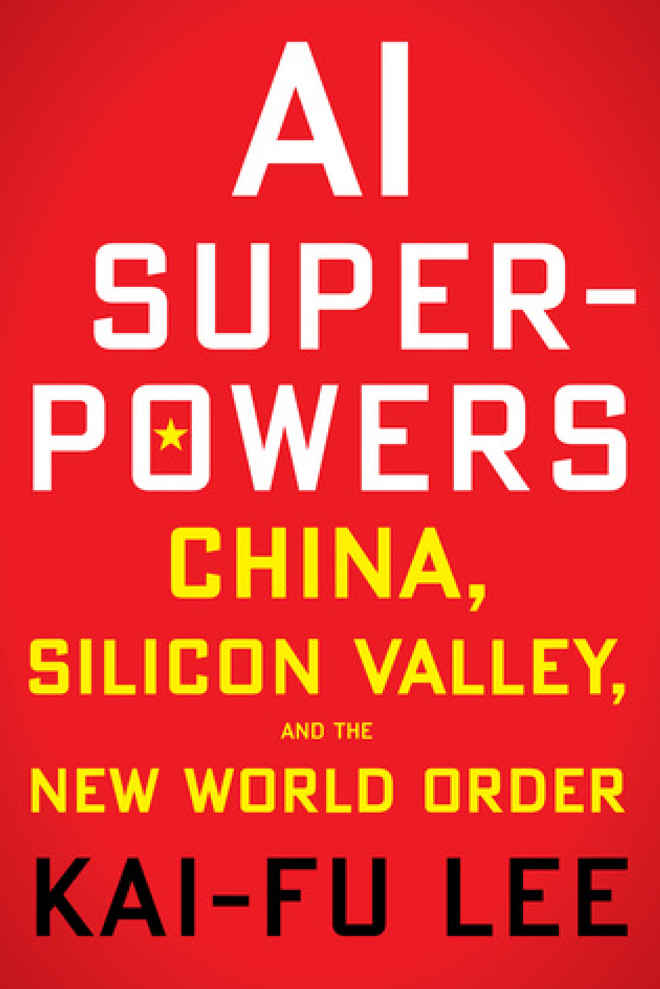 "AI Superpowers: China, the Silicon Valley and the New World Order   ,   Kai-Fu Lee   "" It's topical, it's tech, it's human, perfect read. This book is about AI, it is about state of development and geopolitics. A comparison between the two leading AI ecosystems in China and the US. A human-centric perspective on how to approach AI based on the author's own life experiences .""   Victoria Sarmiento , Policy and Communications Assistant"