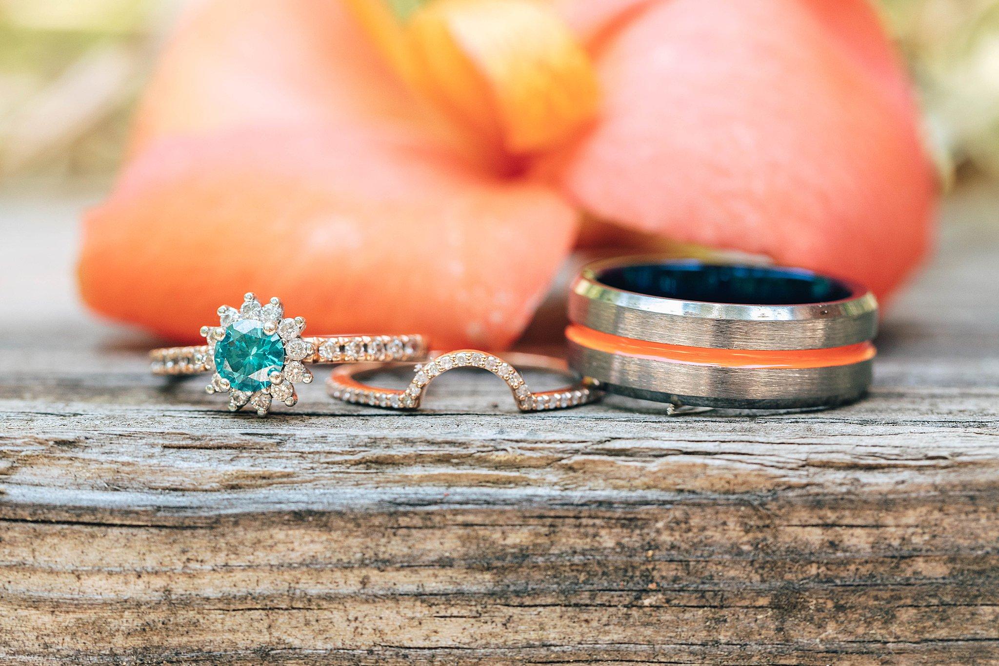 orange and blue wedding maryland