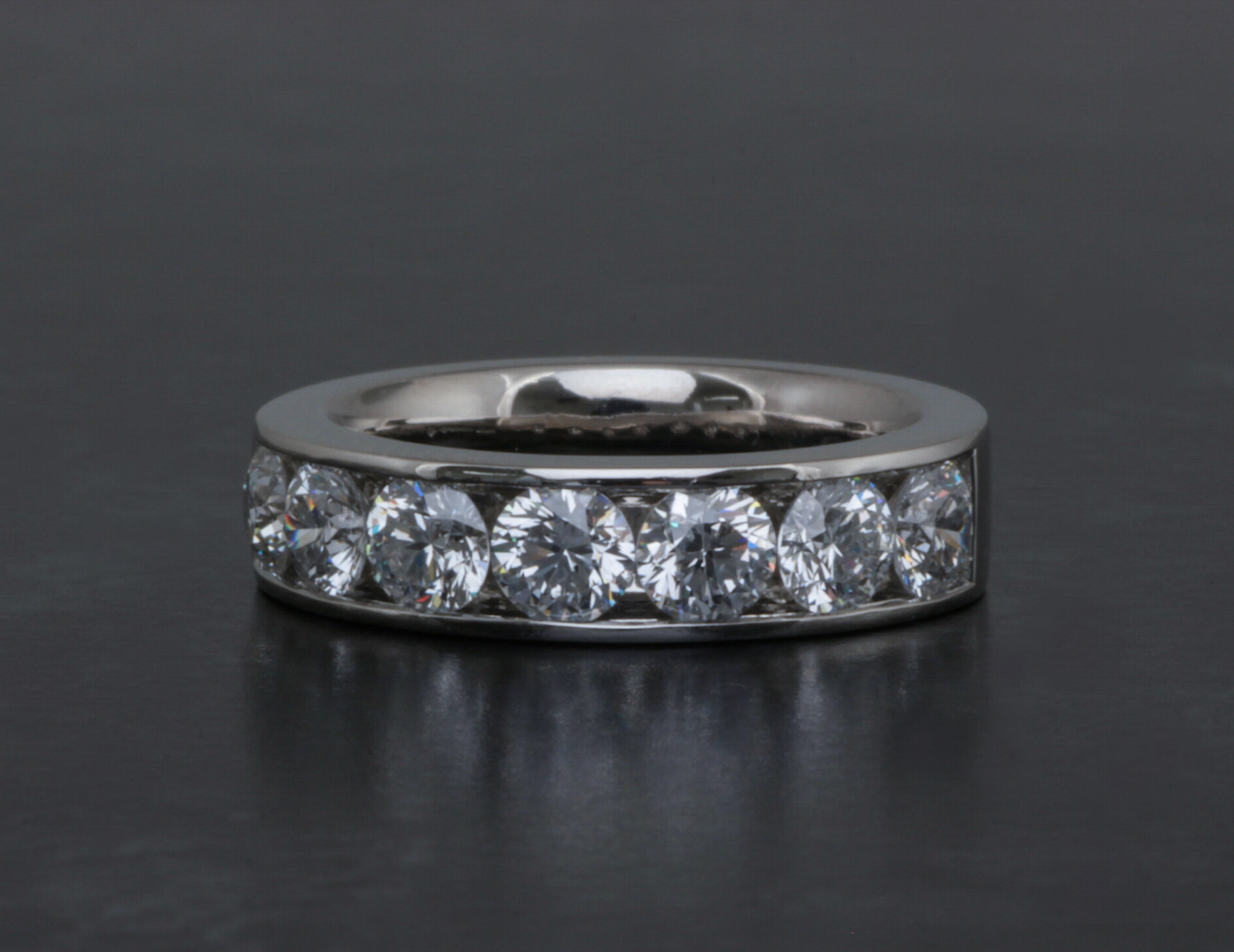 Copy of Channel set diamond full eternity ring. Made in Chichester, England.