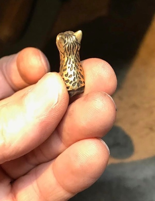 Sample cast in gold for our customer to approve.
