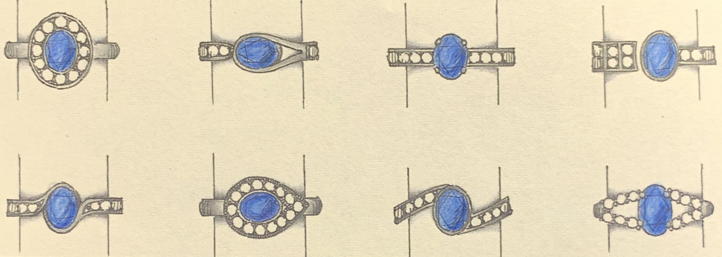New ideas for stones removed from an old ring.