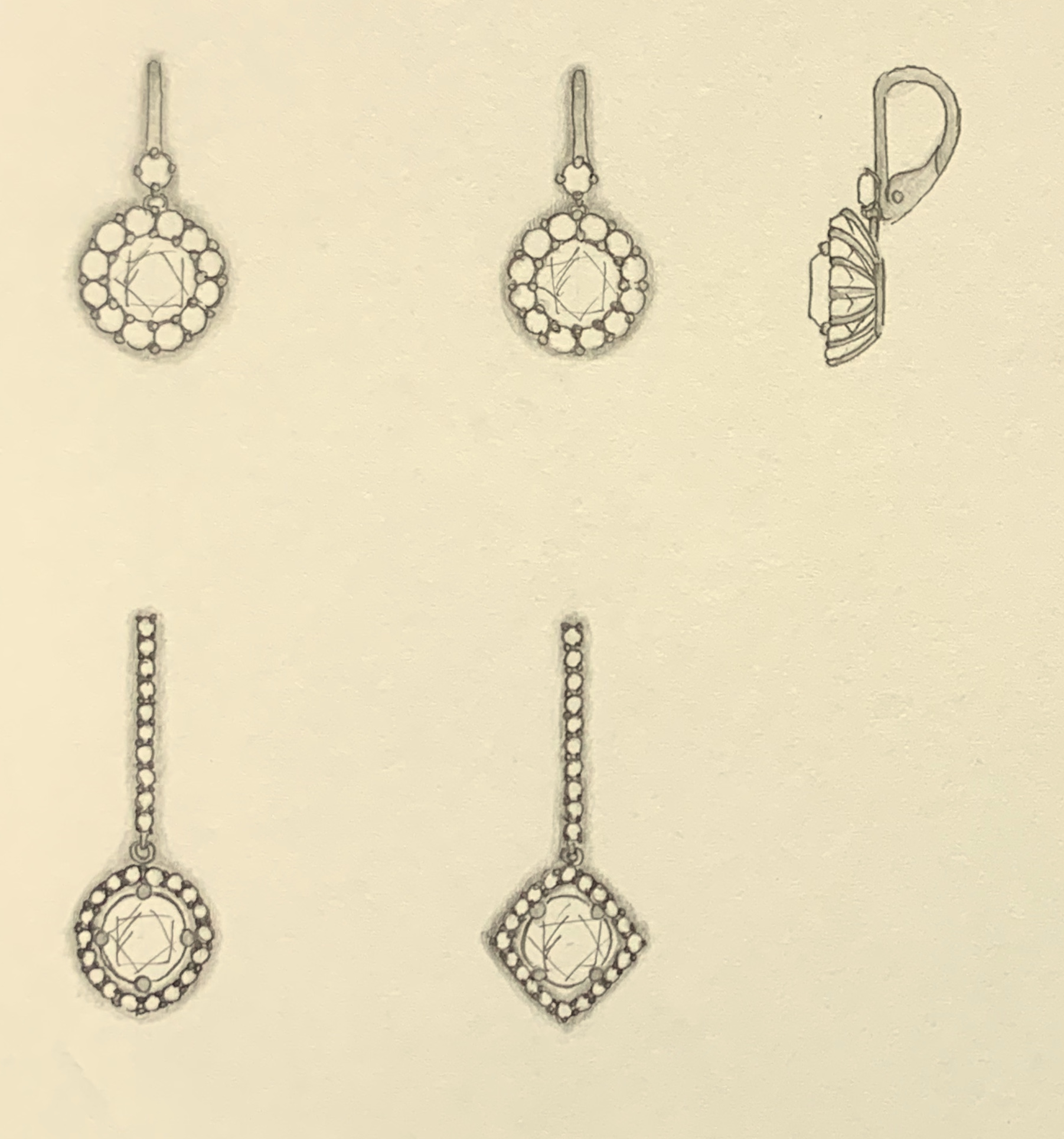 Choices for a pretty daisy cluster earring design.
