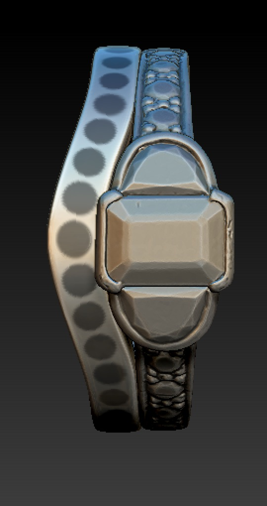 Copy of Model of a simple, slightly graduated diamond set band to fit around 3d scanned engagement ring.