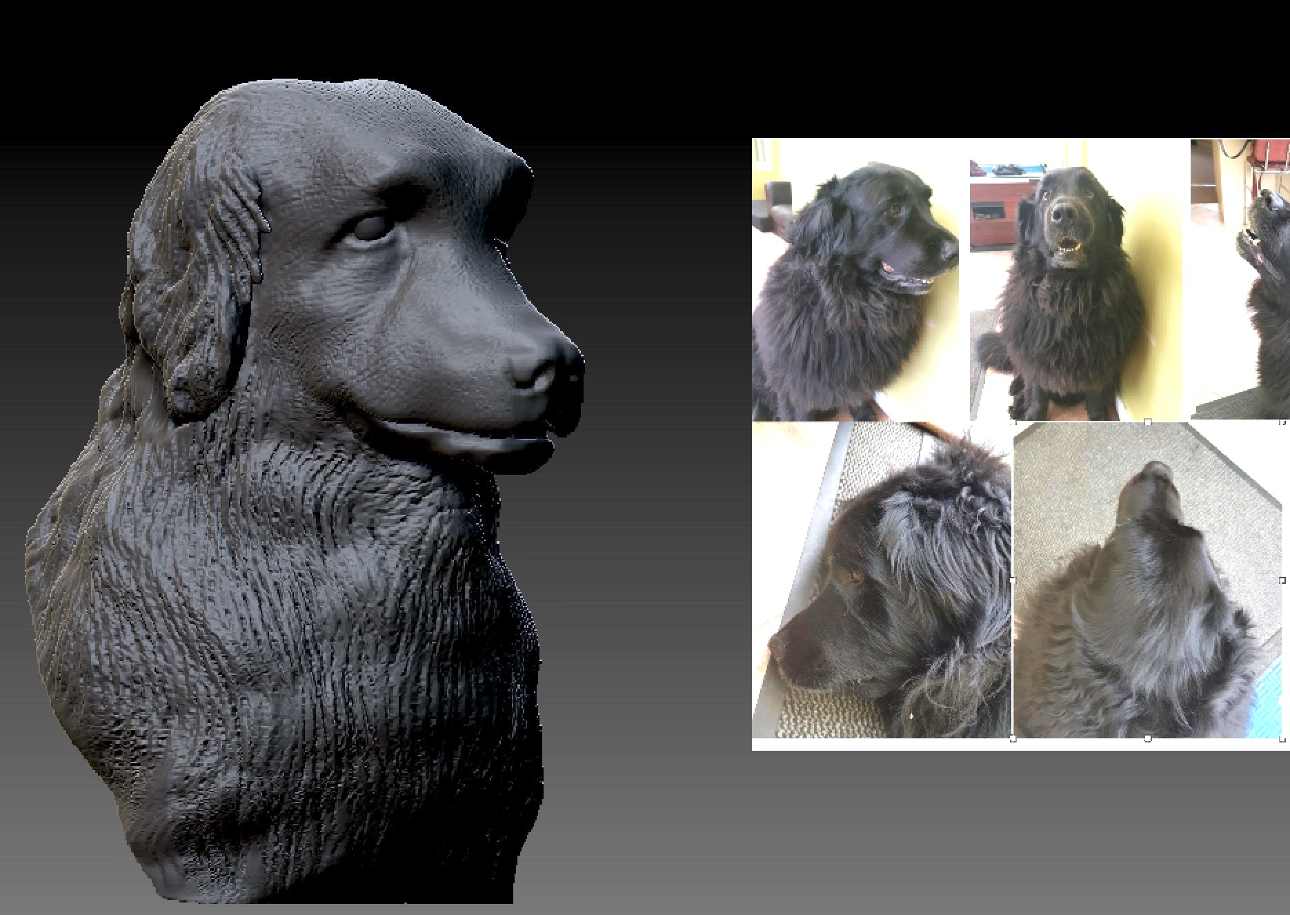 A special stick pin based on a customers much-loved dog. This ended up at about 25mm high and the detail came out beautifully. Trying to capture a good likeness takes a lot of time!