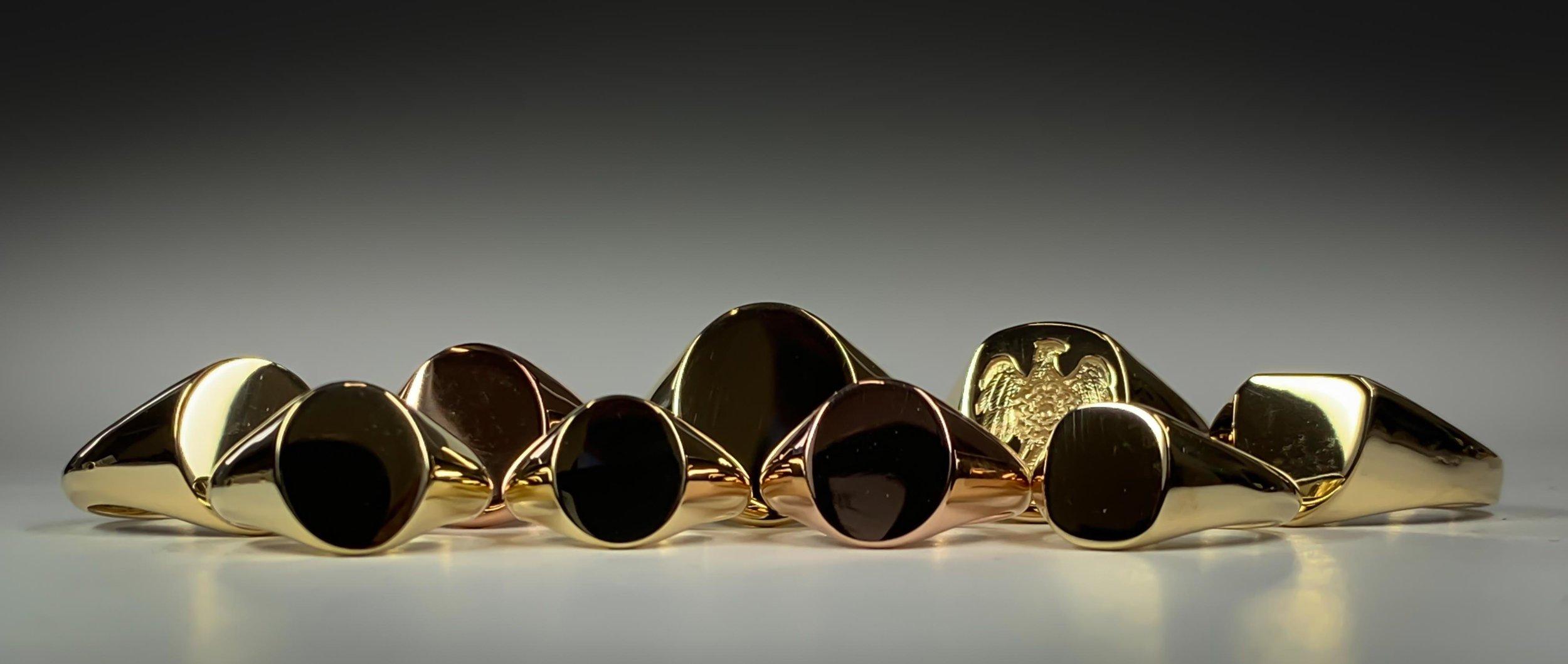 Gold signet ring range