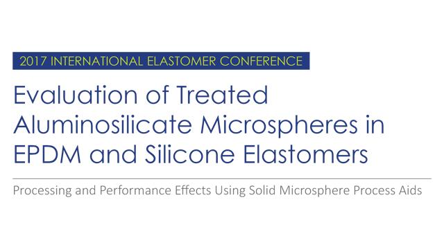 Treated Aluminosilicate Microspheres - Presentations