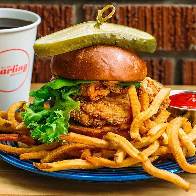 The Thunderbird Sammie, y'all! . . . . .  #alldaydarling #alldaydarlingasheville #ashevillerestaurants #asheville #828isgreat #seasonalproduce #ashevilleeats #ashevillefoodie #avleats #visitasheville #alldaylunch #lunchdate #alldaycafe #supportlocal #lunch #foodie #yummy #lunchbreak