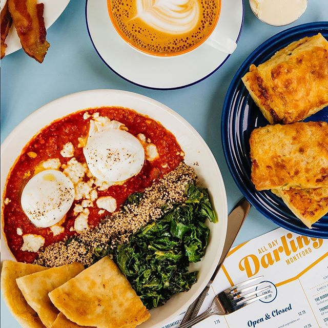 """We've heard this #shakshuka called """"The Best Breakfast in Town"""" more times than we've answered the question """"why the name?"""" . . . BREAKFAST #alldaydarling #alldaydarlingasheville #ashevillerestaurants #asheville #828isgreat #seasonalproduce #ashevilleeats #ashevillefoodie #avleats #visitasheville #alldaybreakfast #alldaycafe #riseandshine #supportlocal #eggs #breakfast #foodie #yummy"""