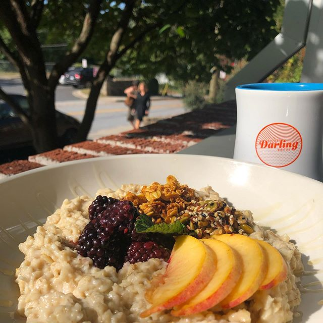 Warm, NC grown certified GF oatmeal with the last of our summer fruits. We've been working on this new addition for the cool weather, but, we can't wait forever. . . . . #alldaydarling #alldaydarlingasheville #ashevillerestaurants #asheville #828isgreat #teamwork #teamworkmakesthedreamwork #alldayeveryday #visitasheville #alldaycafe #darling #supportlocal #foodie