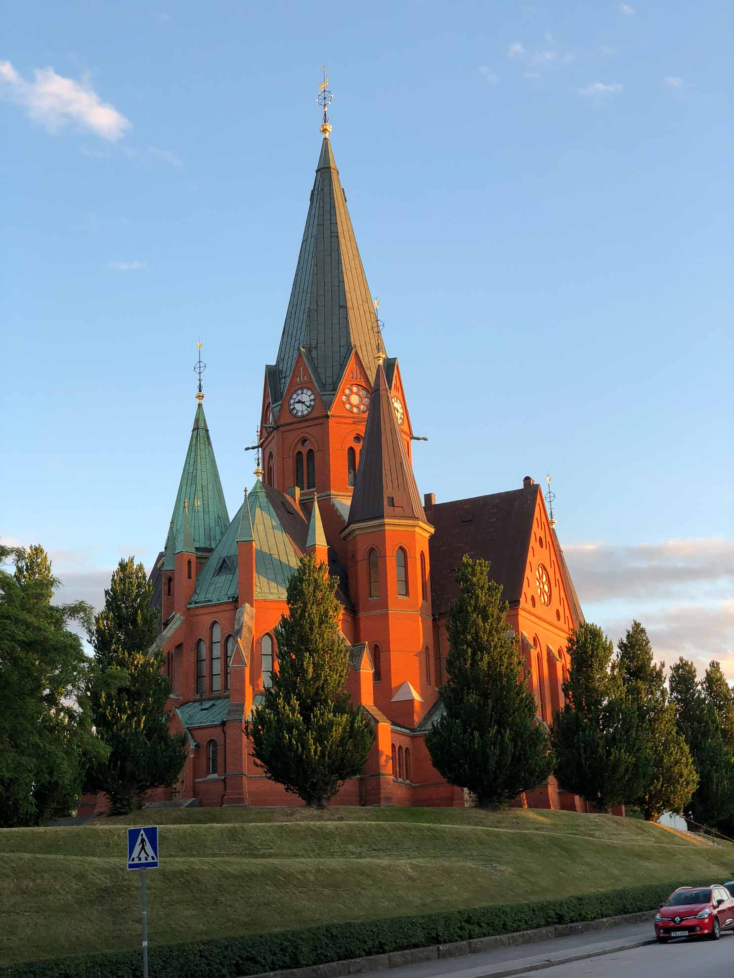 Die St. Petri Kirche in Västervik.