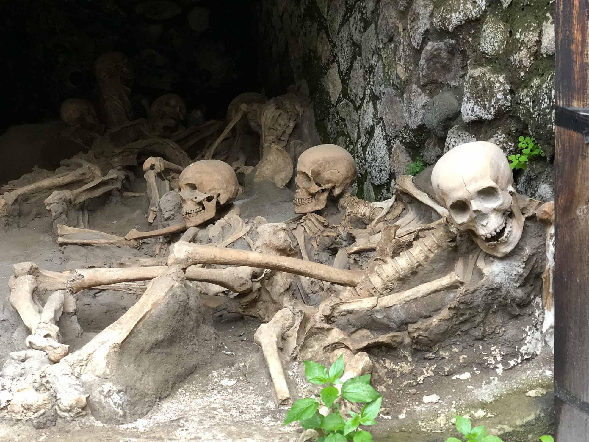 Doch nicht alle schafften es. Man fand zahlreiche Skelette in den Bootshäusern der Fischerstadt.