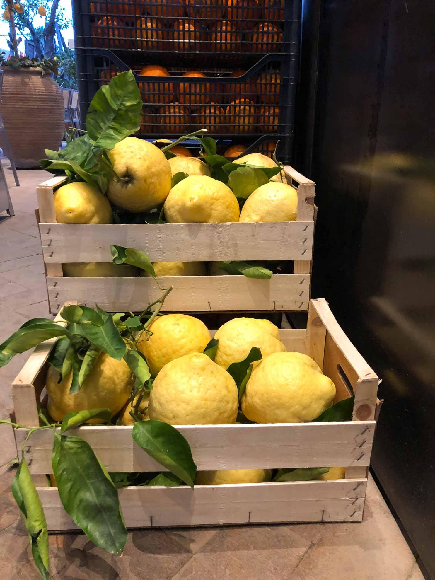 … wo beim Bummeln Amalfi-Zitronen ins Auge fallen, die eher die Größe eines kleinen Kürbis haben.