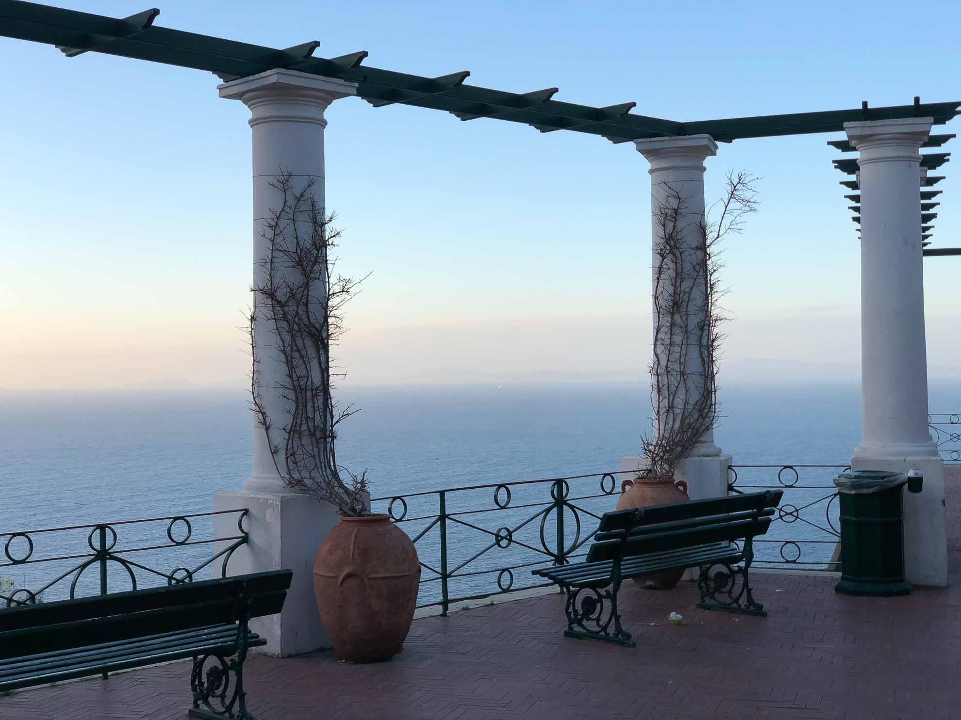Blick aufs Mittelmeer.