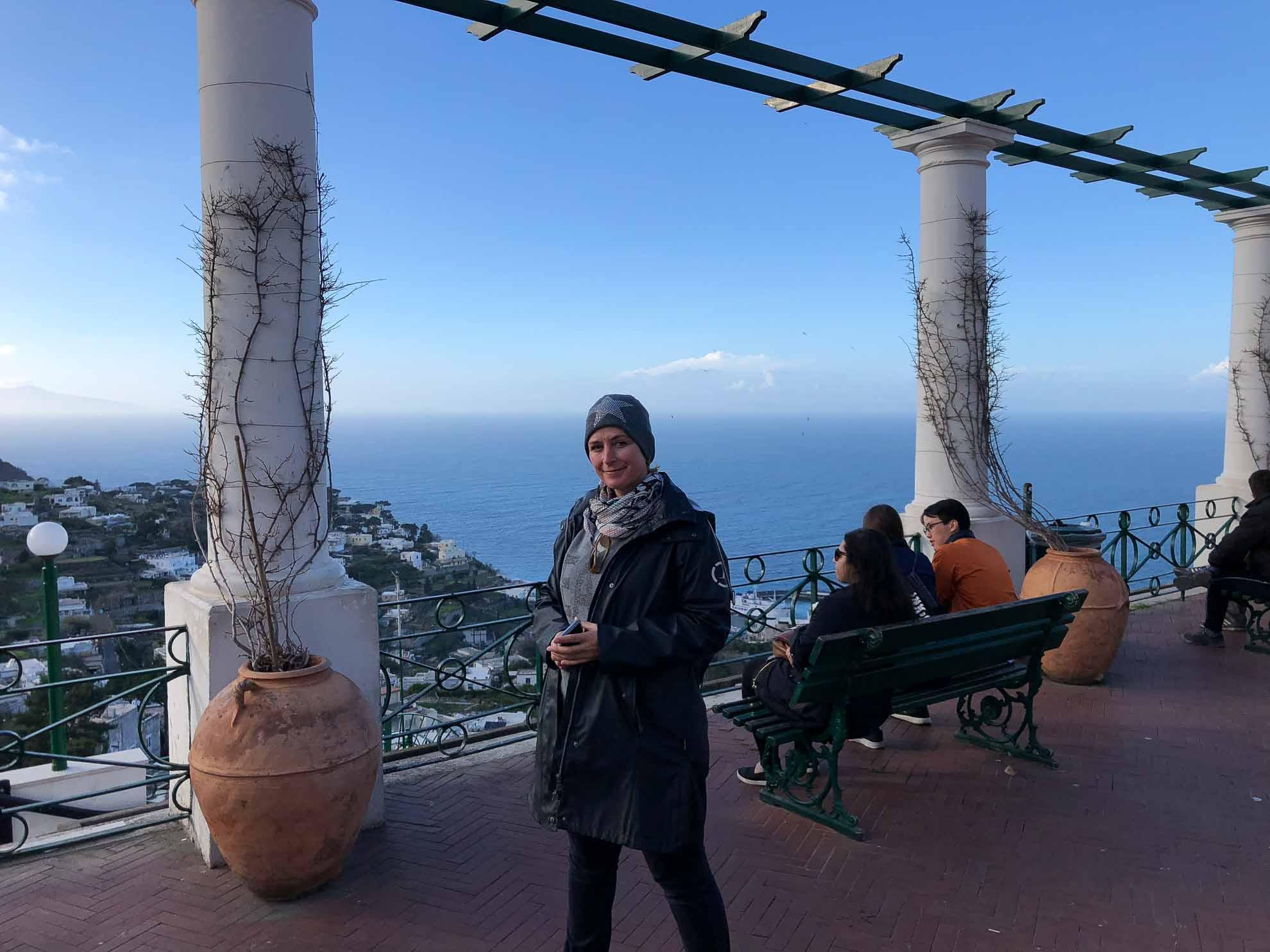 Sabine auf Capri.
