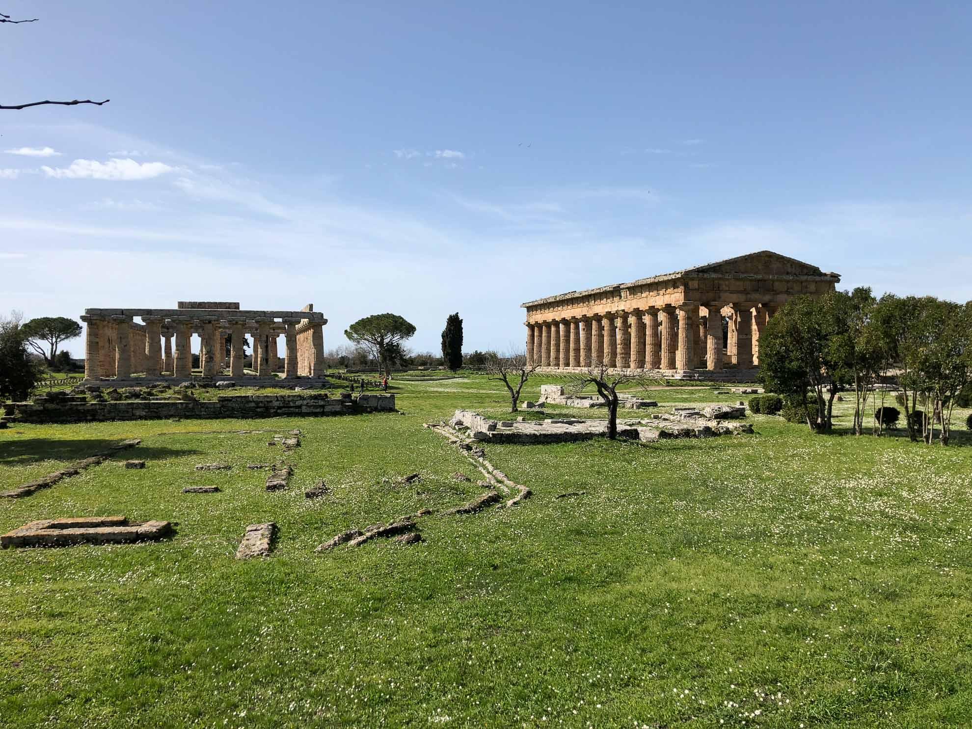 Das heutige Ausflugsziel sind die Tempel von Paestum.
