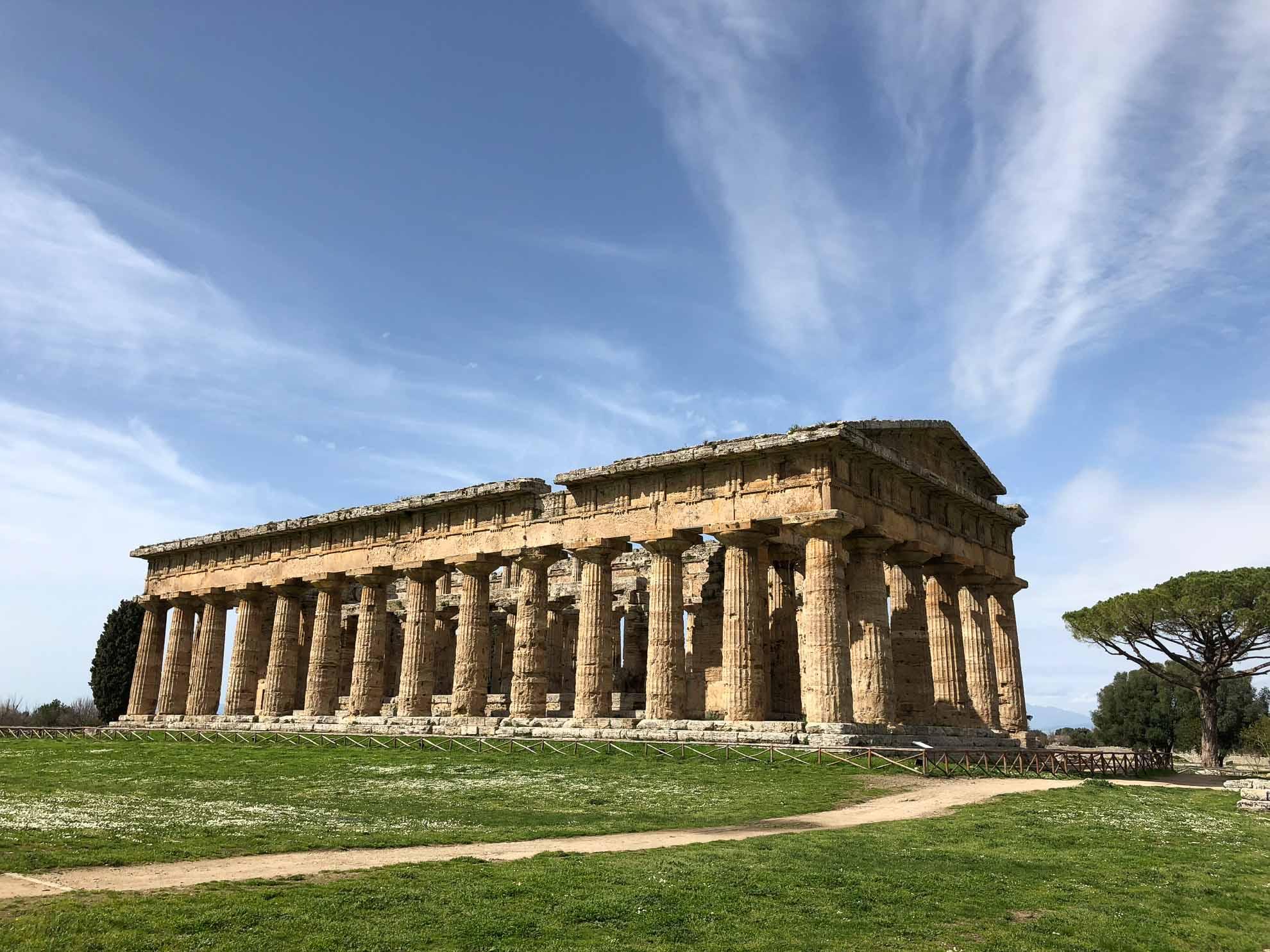 Der Hera-Tempel, ehemals Poseidon-Tempel, ist besonders gut erhalten.