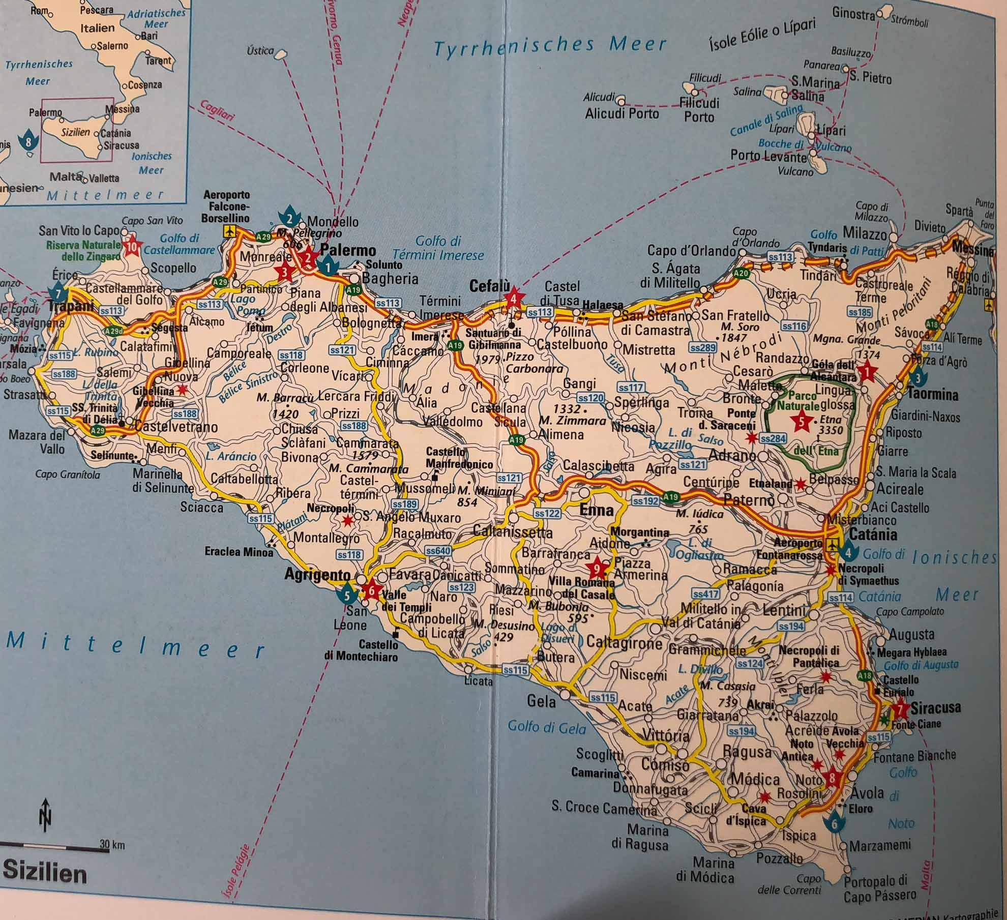 Unser aktuelles Revier – Sizilien und die Liparischen Inseln im Tyrrhenischen Meer.