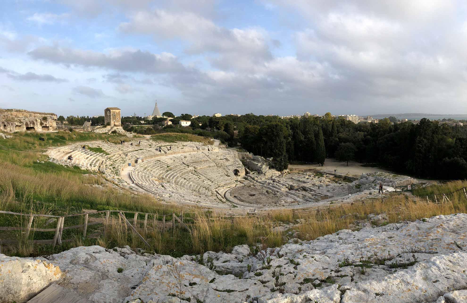 Besuch im griechischen Theater – Teatro Greco – einem der größten überhaupt.