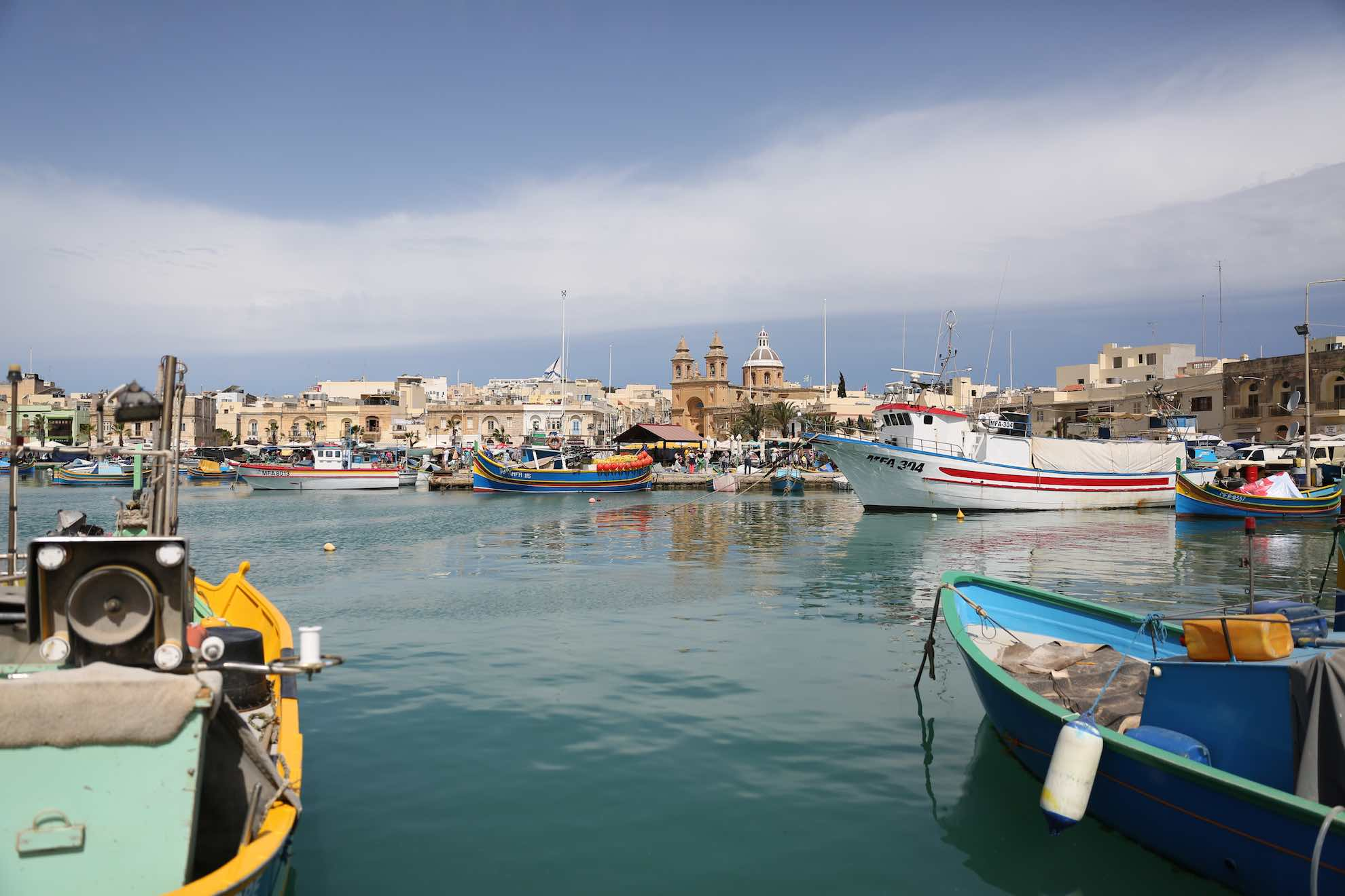 Marsaxlokk ist ein kleiner Fischereihafen im Südosten der Hauptinsel.