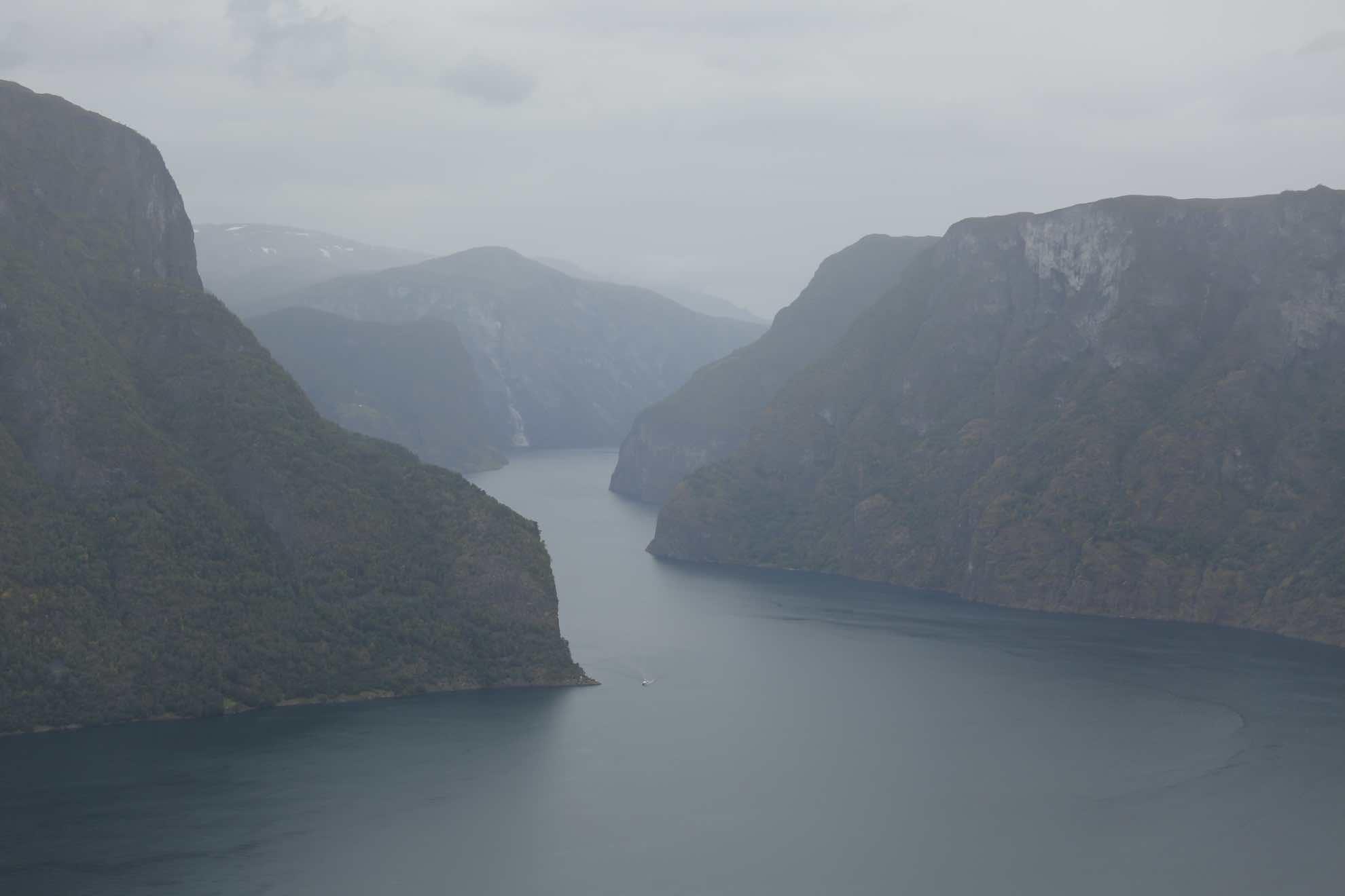 Ausflug hoch über den Fjord.